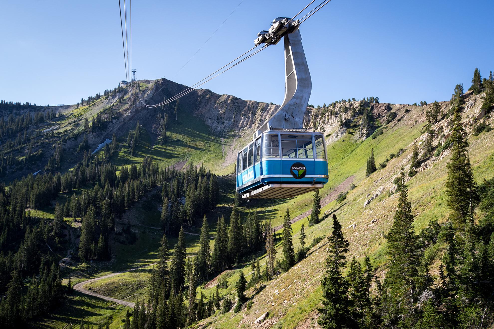 Summer Tram Ride at Snowbird